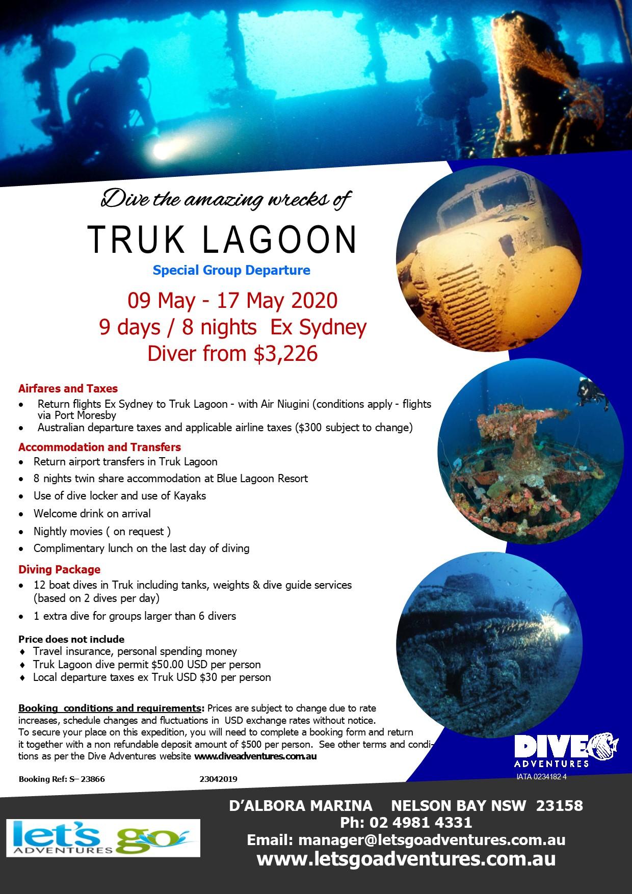 Dive Truck Lagoon 2020